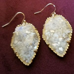 PROTOTYPE Crushed Ivory Pearl Corley Earrings Gold